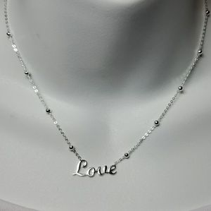 Argento Vivo Sterling Love Necklace